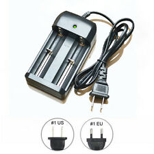 Hot Sale 26650 18650 14500 10440 EU Plug 3.7V Li-ion Battery Charger Double Line