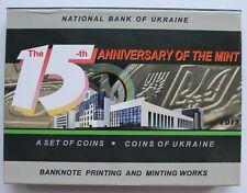 SET 8 coins in Box 2013 Official 15 Years of MINT of NATIONAL BANK of Ukraine