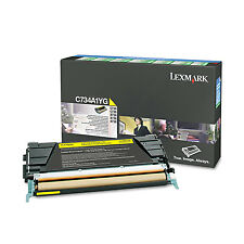 Lexmark C734A1YG Yellow Toner Cartridge Yields 6000 Pages For C734N X734 New!!