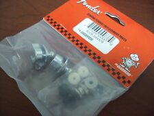 NEW - Genuine Fender Strap Locks - CHROME, 099-0690-000