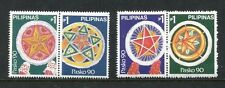 Philippines 2038a-d, MNH, 1990, December 3.  Christmas 1990 - Holiday Lanterns