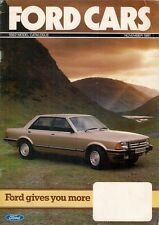 Ford Cars November 1981 UK Market Brochure Fiesta Escort Cortina Capri Granada