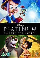 Disney Pinocchio/Jungle Book platinum collection  (DVD, 2-Disc Set, Box Set)