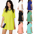 Plus Size Women's Baggy Swimwear Cover Up Beach Dress Ladies Chiffon Summer Tops