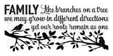 STENCIL**Family like branches tree**12x24 for Painting Signs Wood Canvas Fabric