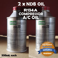 2 X ND 8 R134a A/C Auto A/C Denso Compressor Oil PAG Gas ND8 Lubricant Car