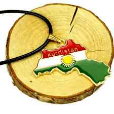 Kurdistan Region Map Pendant Necklaces Chain 18K Gold Plated National Flag new