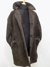 Sheepskin  Coat Suede Leather  Bomber Flying Jacket Fur lined