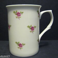 Dot Rose (Green Rim) 1 Fine Bone China Mug Cup Beaker
