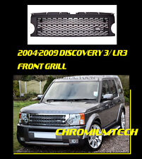 2004-09 DISCOVERY 3 LR3 BLACK Supercharged Style Grille w/FREE Land Rover Badge
