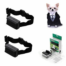 2 x Anti Bark No Barking Tone Shock Training Collar for Small Medium 5-150lb Dog