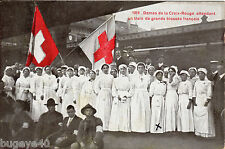 Nurses French Red Cross on Platform Geneva ? Interesting message wounded POW ?