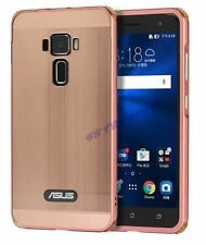 ALUMINIUM BUMPER METAL CHROME MIRROR BACK COVER CASE TEMPERED GLASS ASUS ZENFONE