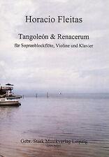 "04201 ""Tangoleon & Renacerum"" Noten, Tango, Blockflöte und Klavier, Argentinien"