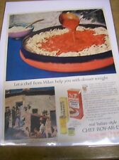Original 1957 Chef Boy-Ar-Dee Magazine  Ad - Let a Chef From Milan Help You...