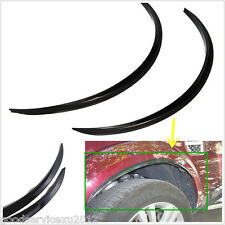 One Pair Black PVC Car Fender Flare Wheel Eyebrow Protector Stickers Decor Decal