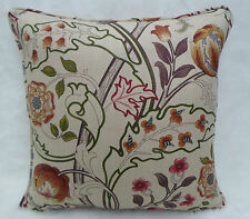 William Morris Fabric Cushion Cover 'Mary Isobel' Rose/Slate 100% Linen