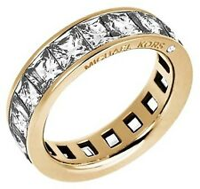 MICHAEL KORS GOLDTONE  WIDE PAVED ETERNITY RING, NWT, MKJ47507108, MKJ4750; S7