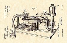 Patent Print - Gramophone by E. Berliner  - 1895. Ready To Be Framed!