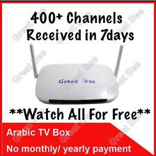 400 Plus Arabic Channel IPTV, Android 4.2 Box. No Monthly, Life Time FREE