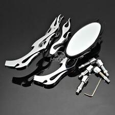 Flame Chrome Rearview Mirrors For Honda Shadow ACE Aero Spirit 750 1100