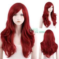 65cm Heat Resistant Long Wavy Dark Red Fashion Hair Wig