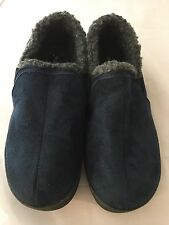 NEW Gold Toe Men's Slip On Micro Suede Moccasin, Navy Blue Men Size Small 7/8