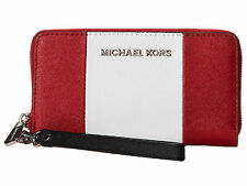 MICHAEL MICHAEL KORS LARGE MULTI FUNCTION STRIPE LEATHER IPHONE CASE, WRISTLET