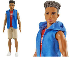 Mattel Barbie Fashionista Hip Hoodie Ken African American Male Fashion Doll-AA