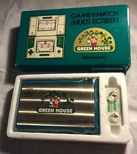 ORIGINAL NINTENDO GAME & WATCH GREEN HOUSE GH - 54 NEAR MINT IN BOX FOR SALE