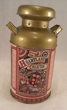 Original Collecible Heartland Collection Green Milk Can Tin Metal Box Storage