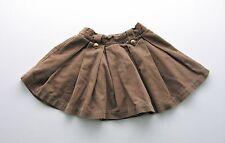 Jupe plissée velours côtelé marron CFK 3 ans filles