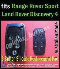 fits Range Rover Sport LR4 remote key fob - Silicone repair 5 Buttons key Pad