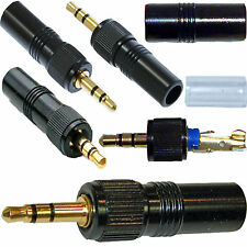 REPLACEMENT 3.5mm GOLD STEREO LOCKING JACK PLUG FOR SONY & TRANTEC MICROPHONE
