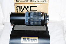 MINT Boxed Nikon Zoom-Nikkor AF-D 70-300 ED Lens with Warranty, For larger DSLRs