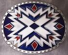 AMERICAN INDIAN X Design Turqoise Belt Buckle western southwest