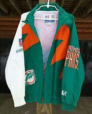 Vintage 90s Miami dolphins NFL Logo Athletic Authentic Pro Line Men's Jacket XL