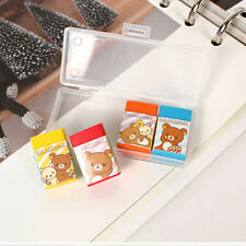 4pcs in a case Cute Mini Colorful Rilakkuma Eraser School Supply Stationery