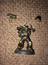War hammer 40k VINTAGE Chaos Space Marine with Horned Helmet REPAIR