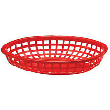 36 Plastic Oval Burger Fries Fry Food Serving Tray Catering horderves Basket New