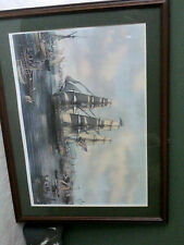 """""""USS Constitution on Charles River Boston"""" Roy Cross - No Frame - Print Only NR"""