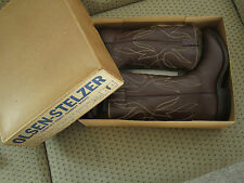 Collectors Dream! Vintage OLSEN-STELZER Cowboy Boots-Never Worn Still in Box 9.5