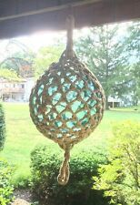 "Antique Huge Glass Fishing Float Nautical buoy Ball 15"" Aqua Color Glass Nice!!!"