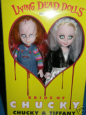 "Living Dead Dolls    Bride of Chucky   ""chucky&tiffany""       2014 mezco toyz"