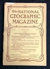 """January 1909 """"National Geographic"""" Magazine Sicily Battlefield of Nations VG+"""