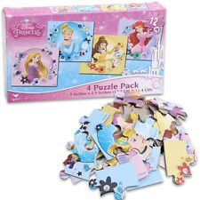 4-in-1 Disney Princess 12-piece Jigsaw Puzzle