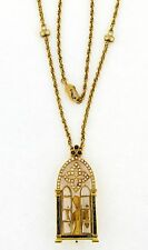 Carrera Y Carrera Diamond Sapphire 18k Yellow Gold Nude Woman Window Necklace
