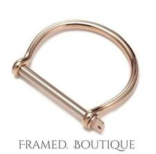 18K GOLD Plated ROSE Gold SHACKLE BRACELET Cuff NEW IN Love SCREW