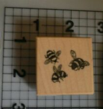 PSX(Personal Stamp Exchange) Buzzy Bees Wood Mounted rubber stamp picture build
