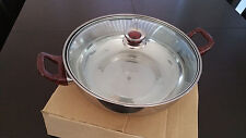 Stainless Steel Steamboat Pot 26 cm - Asian Hot Pot / Steamboat